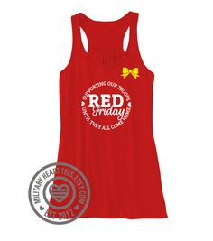 Red Friday tank top Support Our Troops tank by MilitaryHeartTees