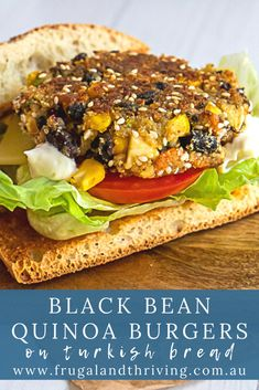 Make these easy quinoa black bean patties ahead of time for an easy mid-week vegetarian meal. The feta cheese and cumin give these patties loads of flavour. #vegetarianburger #vegetarianmeal #frugalmeal Black Bean Quinoa Burger, Quinoa Burgers, Healthy Recipes On A Budget, Frugal Recipes, Black Bean Patties, Vegetarian Meal, Frugal Meals, Black Beans, Feta