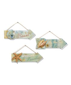 Love this Arrow Wall Sign Set by Giftcraft on #zulily! #zulilyfinds