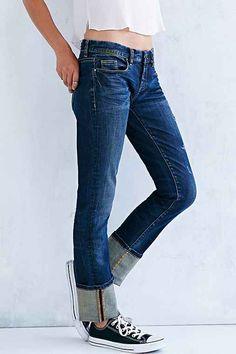 BLANKNYC Distressed Slim Straight Jean