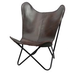 Brown Leather Butterfly Chair - Overstock™ Shopping - Great Deals on Horizon Living Room Chairs