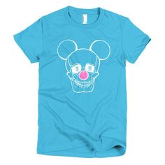 Short sleeve women's t-shirt - Skull Mickey