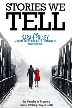 "Stories We Tell - Sarah Polley 2012 - DVD06107 -- ""In this inspired, genre-twisting film, Oscar-nominated writer/director Sarah Polley discovers that the truth depends on who's telling it. Polley is both filmmaker & detective as she investigates the secrets behind a family of storytellers. She playfully interviews & interrogates a cast of characters of varying reliability, eliciting refreshingly candid, yet mostly contradictory, answers to the same questions."""