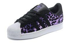Adidas Superstar 2 Damen Leopard G63400 Lila/Schwarz Freizeit Schuhe