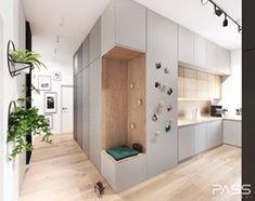 Projekt 30 - Średnia otwarta kuchnia w kształcie litery l z oknem, styl skandynawski - zdjęcie od PASS architekci