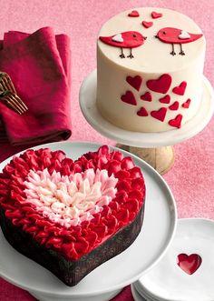 trendy ideas for cupcakes anniversaire chocolat Valentine Desserts, Valentines Day Desserts, Valentine Cake, Heart Shaped Cakes, Heart Cakes, Fun Cupcakes, Cupcake Cakes, Cake Cookies, Heart Shape Cake Design
