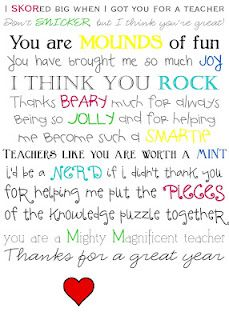 0752d23f2db42369520cdb6a66bc247b--teacher-poems-the-teacher Teacher Appreciation Week Letter Template on student note, cards printable, week fan mail, award free, night invite, card for group gift, free certificate, for elementary, end school year, letter 4th grade, for notes, 2nd grade, sign up sheet,