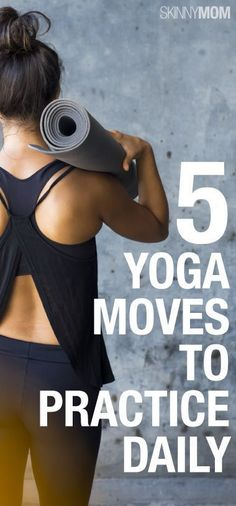 5 Yoga Moves To Practice Daily - It's sometimes hard to make room in your busy schedule for fitness, let alone an activity like yoga that require peace and quiet! However, these five quick and easy moves barely take any time at all. #yoga #workouts