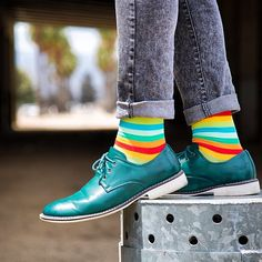 """He shows his socks because it is fashionable """"Soxy Socks"""""""