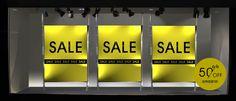 sale window Sale Signage, Retail Signage, Sales, Store Windows, Sale Banner, Window Design, Visual Merchandising, Pearl, Layout