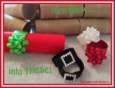 SA Make napkin rings from empty toilet paper or paper towel rolls! Cute Crafts, Crafts To Do, Christmas Crafts, Crafts For Kids, Diy Crafts, Christmas Time Is Here, Christmas Love, Winter Christmas, Toilet Roll Craft