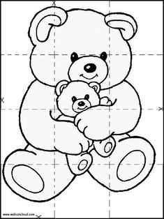 Animals Activities for kids. Printable puzzles jigsaw to cut out. Coloring pages 11 Fun Card Games, Animal Puzzle, Printable Puzzles, Bear Wallpaper, Puzzles For Kids, Handmade Books, Pre School, Preschool Activities, Kids Learning