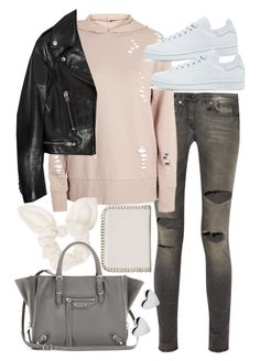 """Untitled #20393"" by florencia95 ❤ liked on Polyvore featuring Forever 21, R13, Topshop, Yves Saint Laurent, Dorothy Perkins, Balenciaga and adidas Originals"