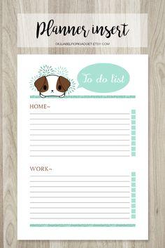 Dog planner insert! This to do list planner insert is very kawaii! #planner #todolist #kawaii
