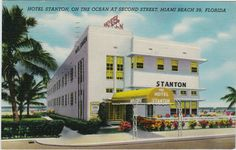 """Stanton Hotel, """"on the ocean at second street,"""" postmarked 1953."""