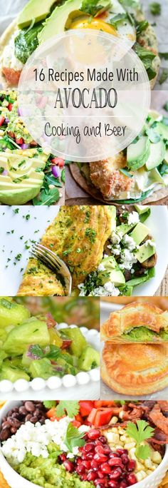 From salsa to salad and from omelets to pastries, here are 16 recipes made with avocado! Add them to your menu plans ASAP! Cooking Avocado, Avocado Recipes, Healthy Recipes, Healthy Meals, Yummy Recipes, Egg Recipes For Breakfast, Breakfast Pizza, Easy Dinner Recipes, Gravy Fries