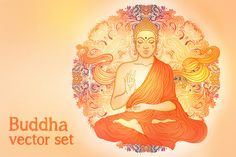 Sitting Buddha Illustrations by Varvara Gorbash on Creative Market