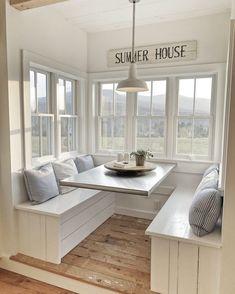 30 luxury kitchen nook design - smart home ideas Elegant Home Decor, Elegant Homes, Future House, Interior Exterior, Interior Design, House Ideas, Fixer Upper, Modern Farmhouse, Farmhouse Kitchens