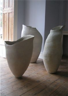'Pregnant Silence' which won a prize at the Faenza International Ceramic Art Competition in 2005    	largest 113cm x 57cm  by Tony Lattimer