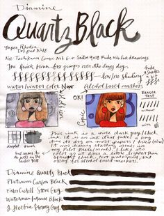 Hi all! Here's a little mini visual review about Diamine Quartz Black. I'm always on the hunt for drawing inks for my sketchbook, and this was an ink I picked up to try because I heard it was more ...