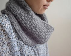 Cupido Cowl by Hiroko Fukatsu - gorgeous stitch pattern. originally done in kid classic, so a heftier result with more stitch definition should happen with cormo.