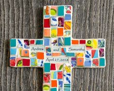 Personalized Mosaic House with They Lived Happily Ever After Peace By Piece, Mosaic Art, Mosaics, Broken China, Wire Hangers, Paper Decorations, Happily Ever After, One Pic, Color Mixing