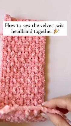 Twist Headband, Crochet Crafts, Sewing Crafts, Diy Crochet Projects, Quick Knitting Projects, Yarn Crafts, Knitting For Beginners, Start Knitting, Round Loom Knitting