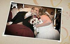 Pai vai de maca à igreja para casar filha nos últimos dias de vida