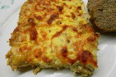 Μια ακόμα ιδέα για γρήγορο και εύγευστο γεύμα: με το ψαχνό της φετινής γαλοπούλας, που κράτησα στην κατάψυξη, ή με οποιοδήποτε πουλερικό σας περισσέψει, ιδού ένα απλό σουφλέ έτοιμο σε δύο κινήσεις. Greek Sweets, Greek Recipes, Lasagna, Poultry, Quiche, Pizza, Cheese, Cooking, Breakfast