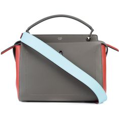 Fendi color block Dotcom tote (130.060 RUB) ❤ liked on Polyvore featuring bags, handbags, tote bags, brown, tote handbags, leather purses, brown leather tote bag, leather handbags and fendi tote bag
