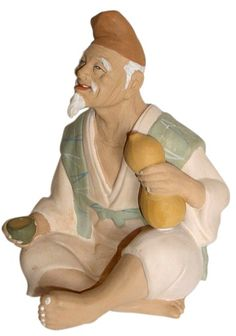 Antique Hakata Dolls | bottle, Japanese clay figurine, antique. Japanese dolls and hakata ...