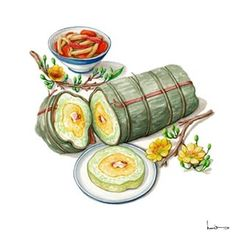 Bánh Tét for New Year in Central and South Vietnam.  #tet #happynewyears #lunarnewyears #vietnamese #holiday #yearsoftherooster