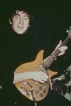 John Lennon's 325 before painting it black.