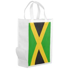 #custom #Jamaican Themed #gifts #reusablebag #FlagGallery -  National flag of Jamaica. Great Jamaica souvenirs and Jamaica gifts for you!