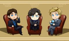 The Mentalist, Sherlock, and Castle.