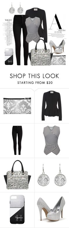 """Understated Black, White, & Silver"" by colormegirly ❤ liked on Polyvore featuring Carolina Herrera, handbags, fashionset and polyvoreset"