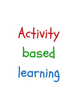 Activity based learning #OnlineTrainingMan