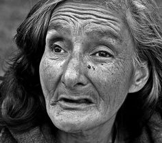 homeless Gloria from Mexico formerly institutionalized for 20 years - by Tom Stone