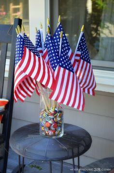 Fourth of July Decor - Flag Vase