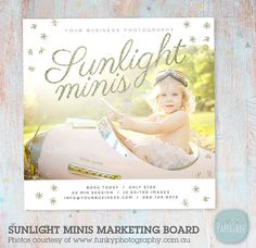 Photography Marketing Board  Sunlight Mini by PaperLarkDesigns