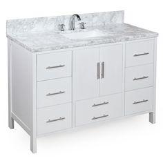 California 48-inch Vanity (Carrara/White) – KitchenBathCollection