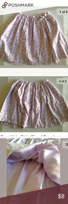 Gap Kids Girl Floral Purple Ruffled Lined Skirt 10 Gap Kids Girls Floral Purple White Cotton Ruffled Lined Skirt Size 10 GAP Bottoms Skirts