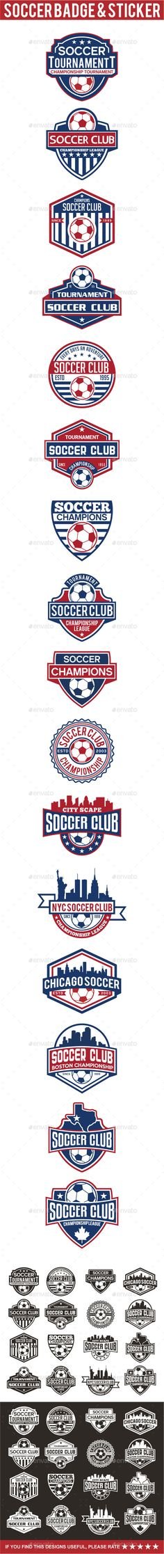 Soccer Badge & Sticker Template Vector EPS, AI. Download here: http://graphicriver.net/item/soccer-badge-sticker/15418441?ref=ksioks