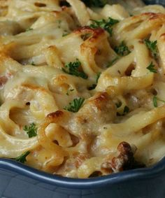 Chicken Fettuccine Bake. This is the best pasta you will ever bake and it is…