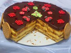 Tarta de galletas y flan con thermomix, tartas con thermomix, galletas con thermomix, flan con thermomix, Sweet Recipes, Cake Recipes, Dessert Recipes, Delicious Desserts, Yummy Food, Thermomix Desserts, Icebox Cake, Crazy Cakes, Cream Pie