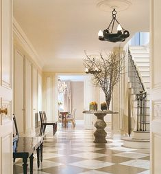 """""""It's chic and unassuming,"""" James Huniford says of a Park Avenue duplex he and Stephen Sills designed."""