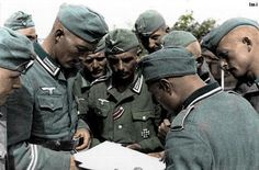 Wehrmacht soldiers reading a map in Russia.Operation Barbarossa - pin by Poop stain Luftwaffe, Operation Barbarossa, German Uniforms, Defence Force, German Army, Armed Forces, World War Two, Wwii, Germany