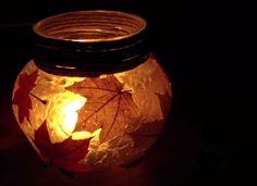 DIY Autumn Lantern with Mod Podge