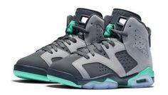 Air Jordan 6 (VI) Retro GG Cement Grey/Green Glow-Dark Grey-Gorge Green 543390-005 [543390-005] - $89.00 :