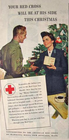 1944 WWII American Red Cross Ad